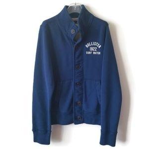 Hollister cardigan sweatshirt blue sz Medium